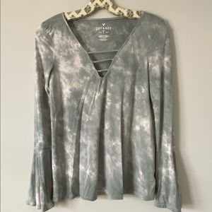 American eagle Soft & Sexy bell long sleeve shirt